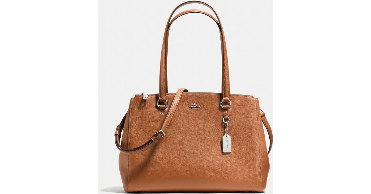 73804dacc3 Lyst - COACH Stanton Carryall In Crossgrain Leather in Brown