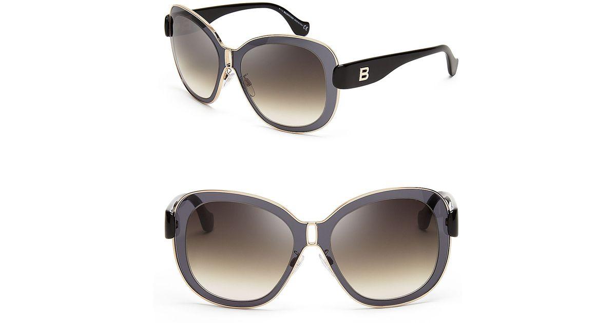 Oversized Mirrored Aviator Sunglasses  balenciaga lens in a lens oversized mirror sunglasses in gray lyst