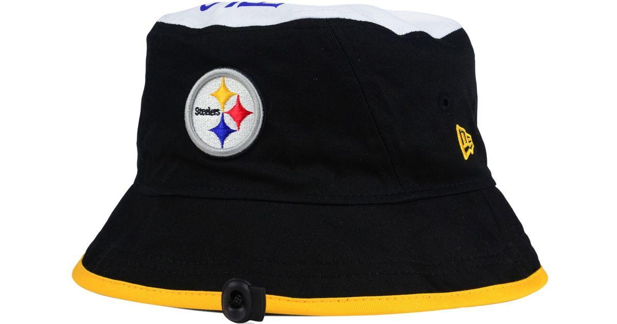 d10cdd5c6c0 Lyst - KTZ Pittsburgh Steelers Traveler Bucket Hat in Black for Men