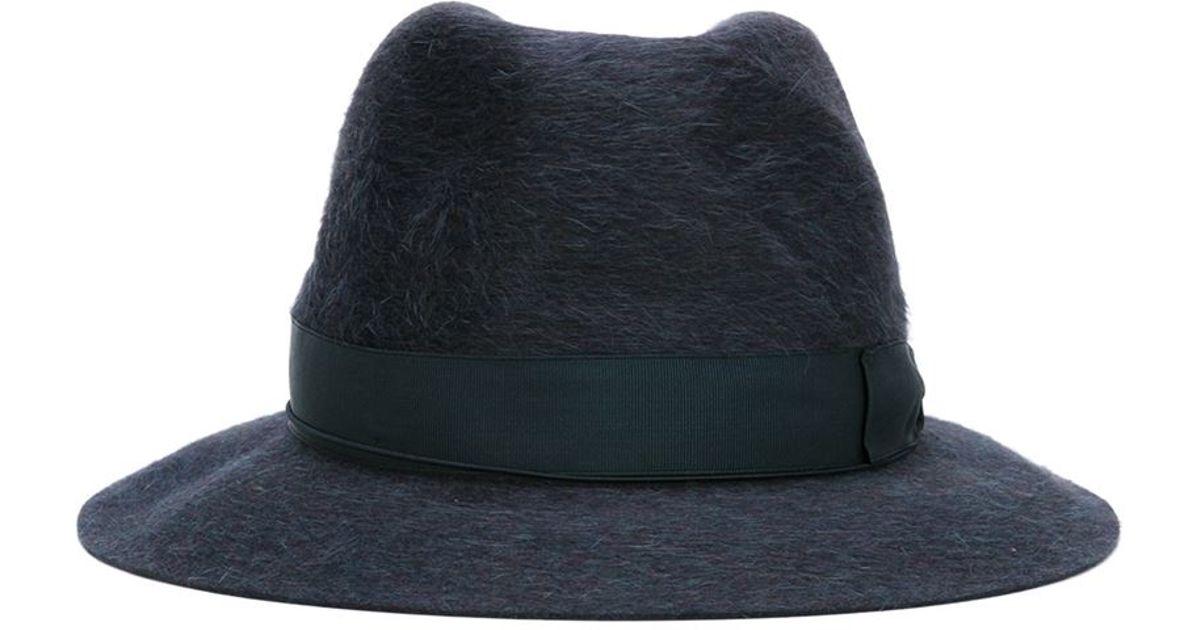Borsalino Fedora Hat in Blue for Men - Lyst 58b555c201d9