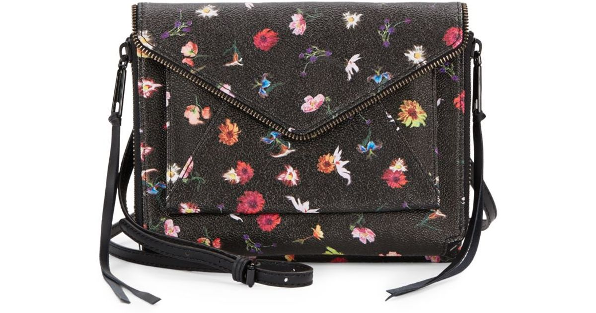 Lyst - Rebecca Minkoff Marlowe Mini Floral Crossbody Bag