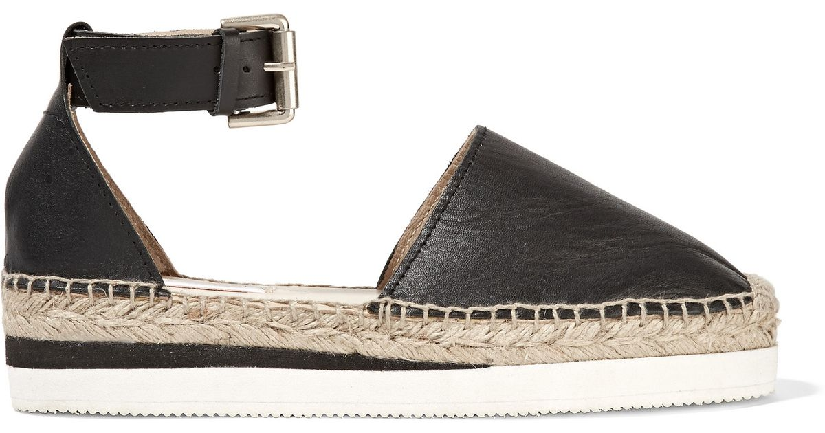 573c0504682 Lyst - See By Chloé Glyn Espadrille Wedge Sandals in Black