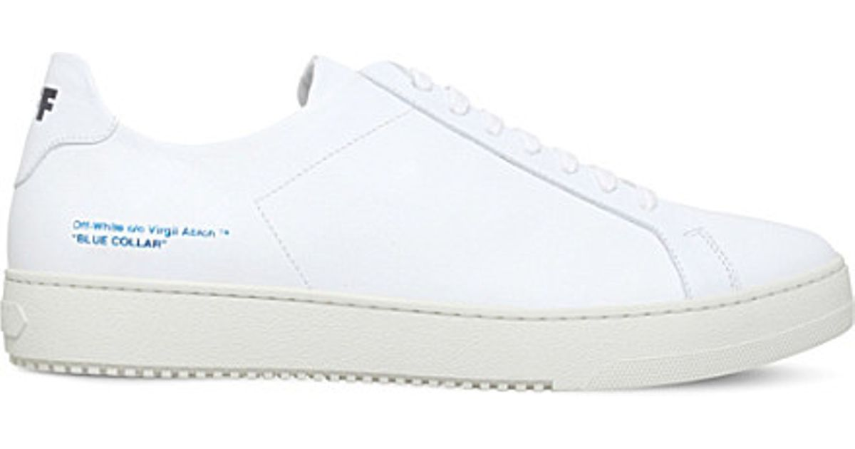 7187486a54d0 Lyst - Off-White c o Virgil Abloh Logo-embossed Leather Trainers in White  for Men