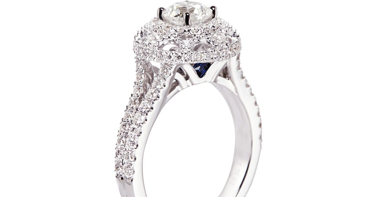 carats engagement of white tiara s diamonds center with diamond gold howard rings products in ring