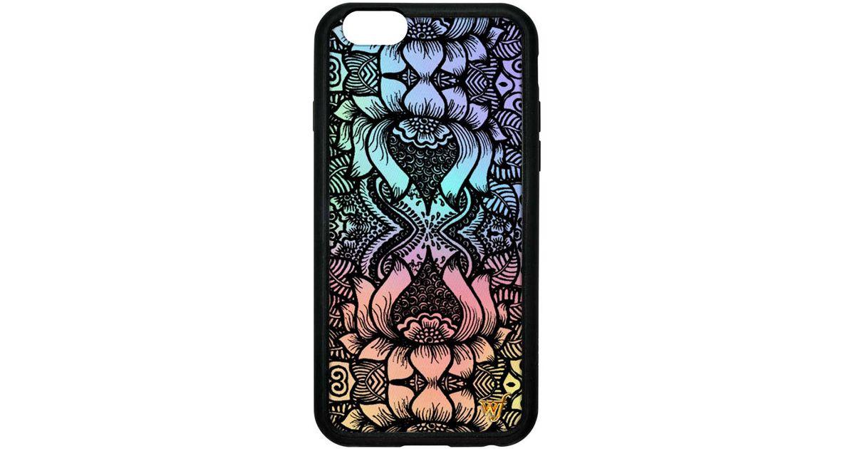 iphone 6 plus case black flowers