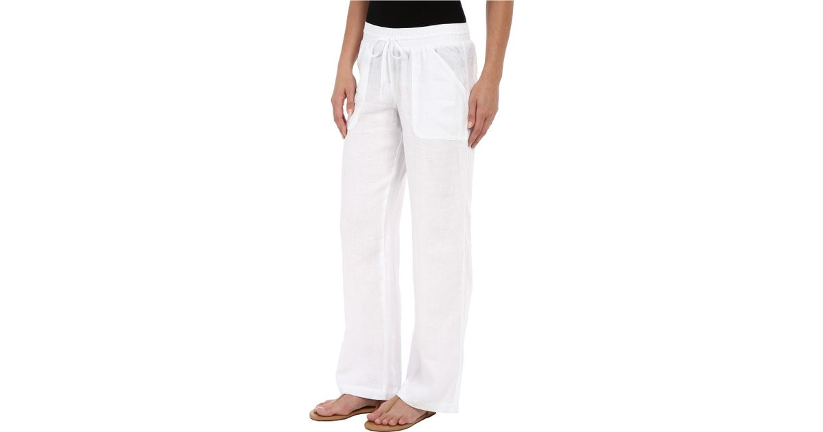 Excellent Stem French Terry Cargo Capris In White  Lyst
