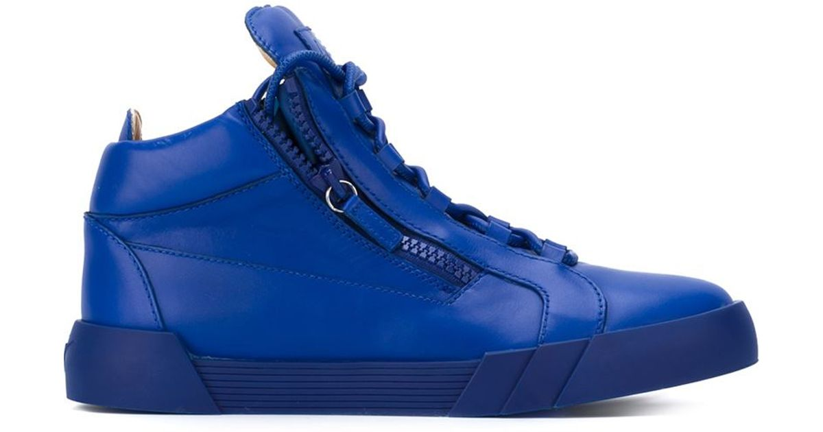 Giuseppe zanotti 'kriss' Hi-top Sneakers in Blue for Men ...