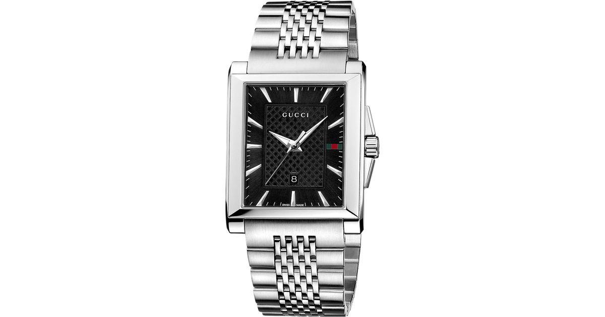 be117267ec5 Gucci Ya138401 Men S G-Timeless Rectangle Dial Bracelet Watch in Metallic  for Men - Lyst