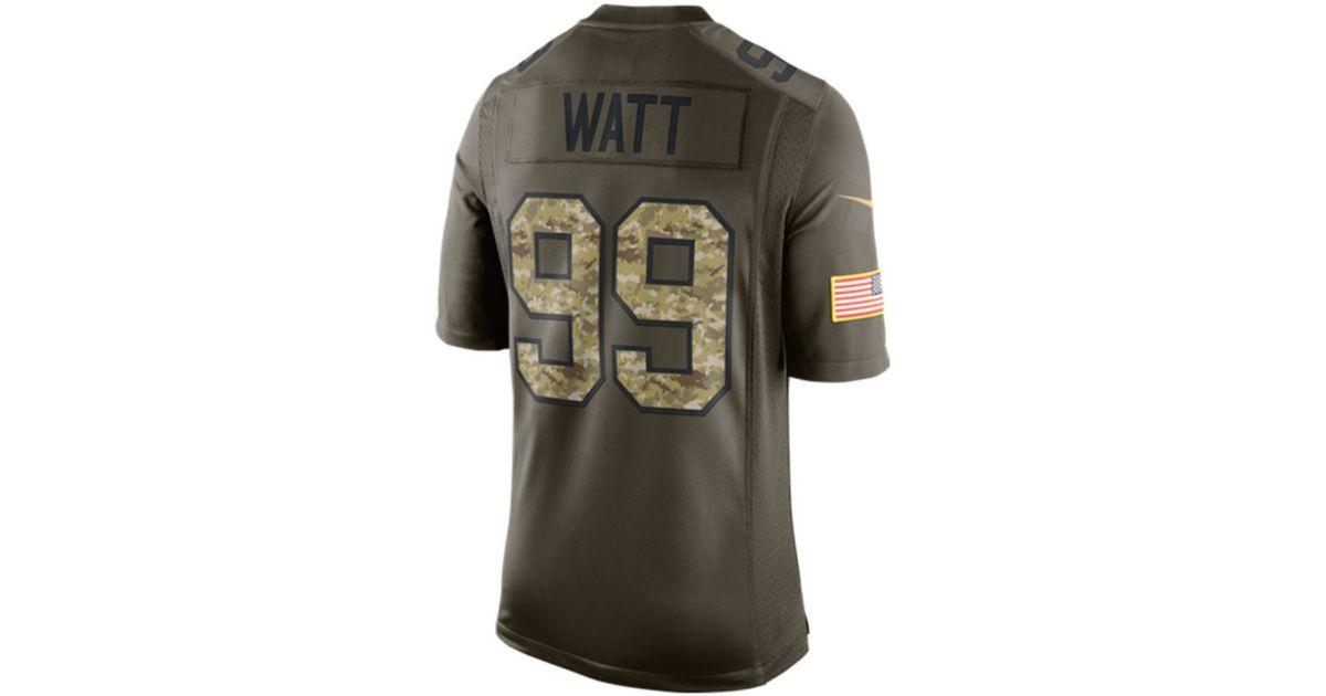4697e6235 Lyst - Nike Men s J.j. Watt Houston Texans Salute To Service Jersey in  Green for Men