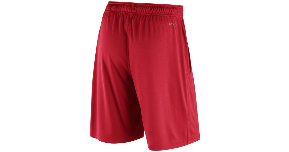 ba942acc3ab Lyst - Nike Men s Kansas City Chiefs Practice Fly 3.0 Dri-fit Shorts in Red  for Men