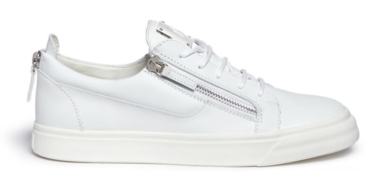 803c2342a54 Lyst - Giuseppe Zanotti  may London  Leather Low Top Sneakers in White for  Men