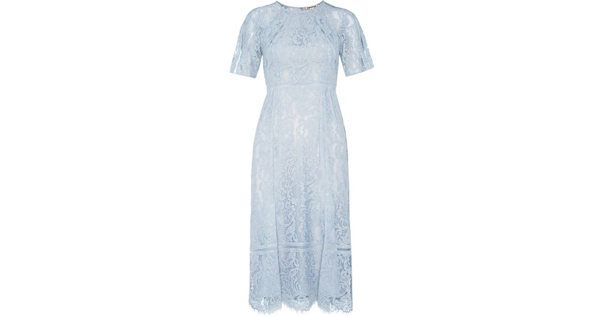 16c059f66736f5 Whistles Lily Lace Shift Dress in Blue - Lyst