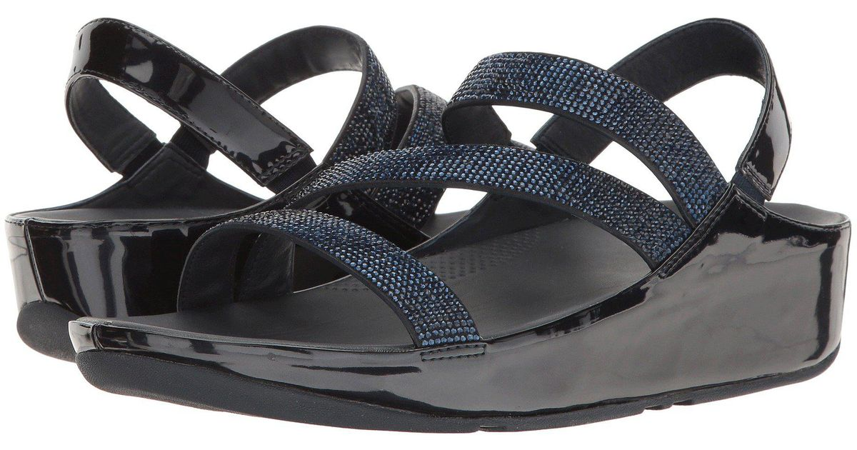 Fitflop Crystall Strap Sandal Z Blue Lyst W9D2IEH