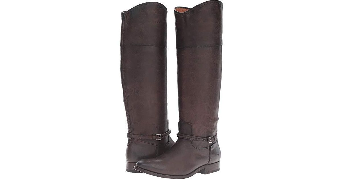 72ea64a2e32 Frye - Brown Melissa Seam Tall (slate Washed Antique Pull Up) Pull-on Boots  - Lyst