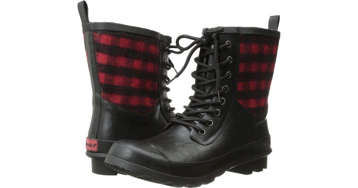 90c34934214d Lyst - Chooka Cara Plaid Rain Boot in Red