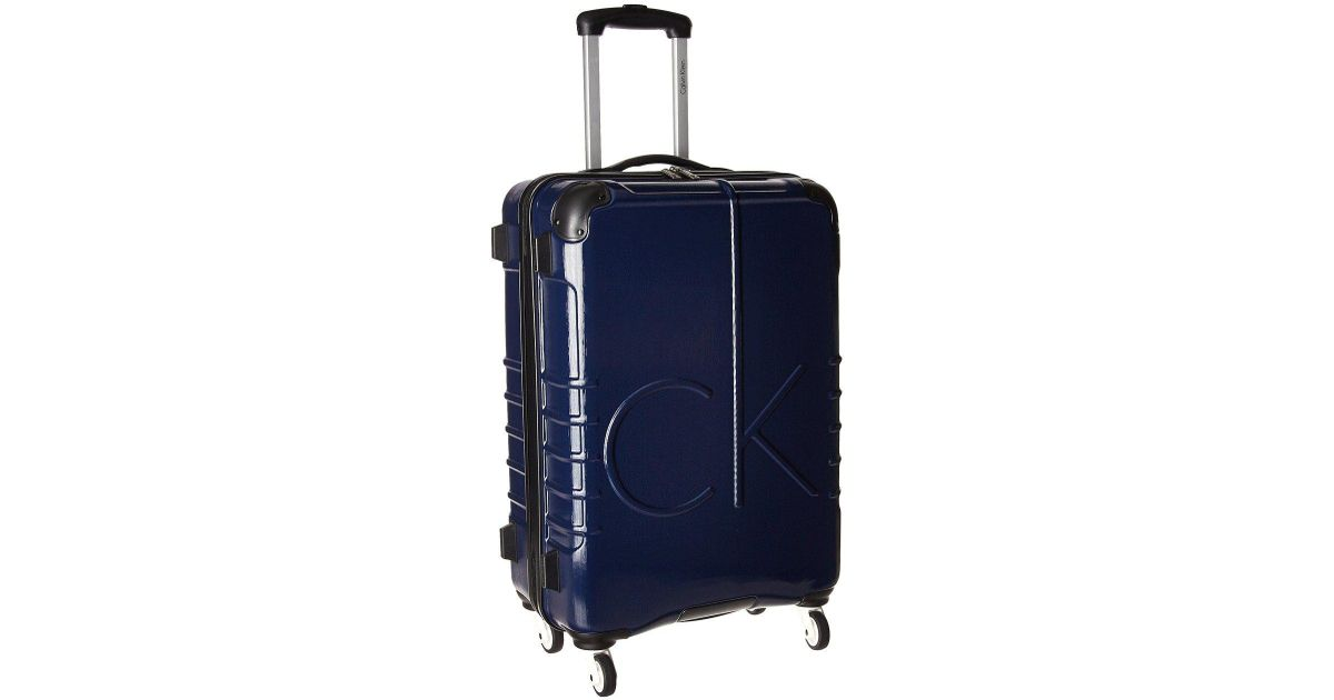 Calvin Klein CK-510 Signature Hardside 20 Upright Suitcase (Brown) Luggage