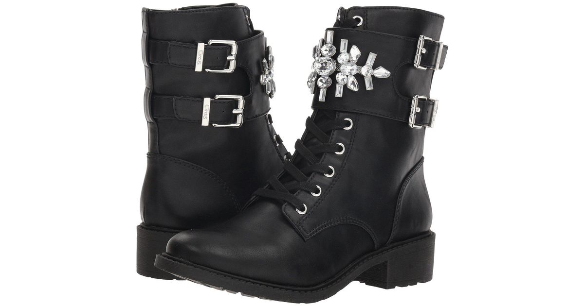 51674410c Lyst - Circus by Sam Edelman Dakota Combat Boot in Black
