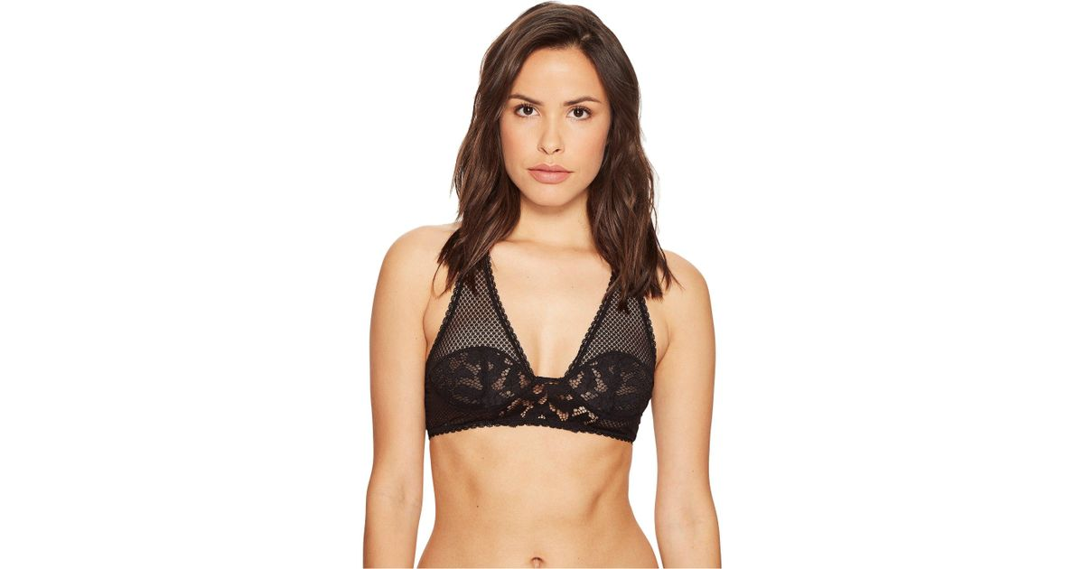 3e725a507ef892 Lyst - Free People Corsets A Racer Bra in Black