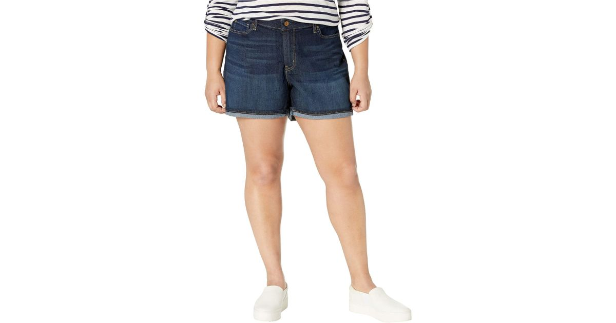 73f9b24b Lyst - Signature by Levi Strauss & Co. Gold Label Plus Size Mid-rise Shorts  in Blue