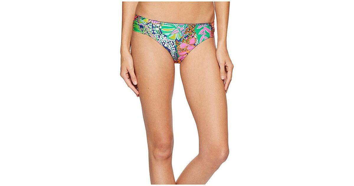 78f2c06105ac9 Trina Turk Tropic Escape Shirred Side Hipster Bottom (multi) Swimwear - Lyst