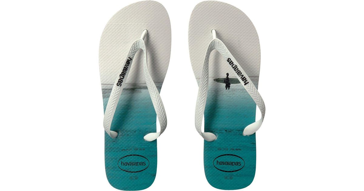 231abad610feb0 Lyst - Havaianas Hype Flip Flops in White