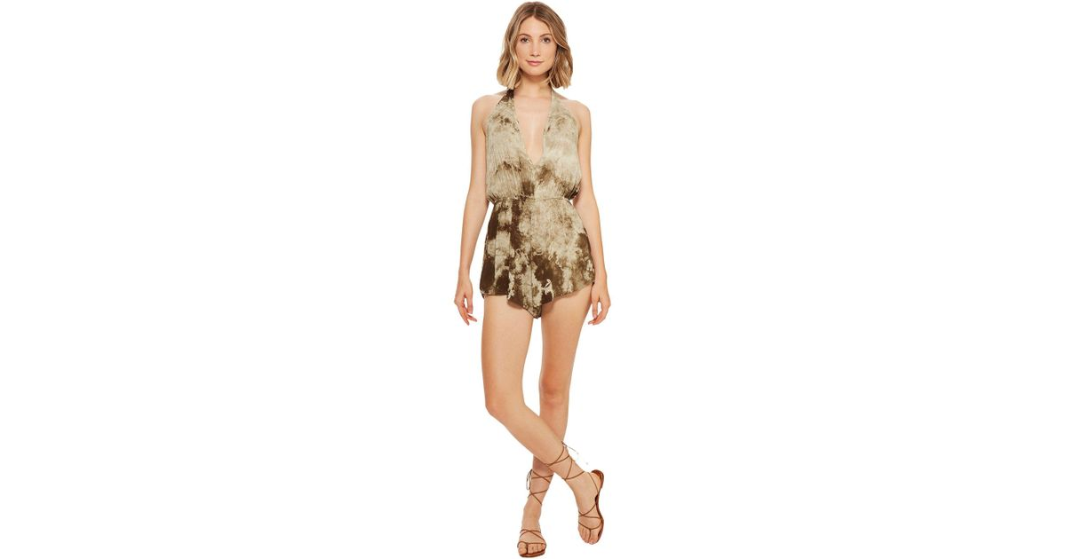 6532dd78b87 Lyst - Blue Life Double Tie Romper in Natural