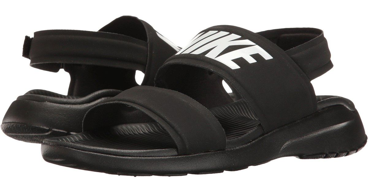 d94cbbb45 ... official store lyst nike tanjun sandal black black white womens shoes  in black for men save