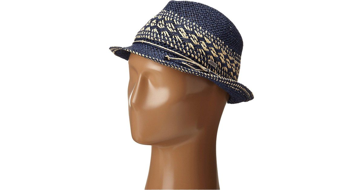 43ee32d4c13 Lyst - Roxy Big Swell Straw Fedora Hat