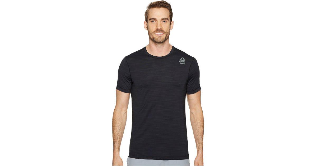 Lyst - Reebok Crossfit Activchill Vent Tee (black) Men s T Shirt in Black  for Men a4f0aab03d0