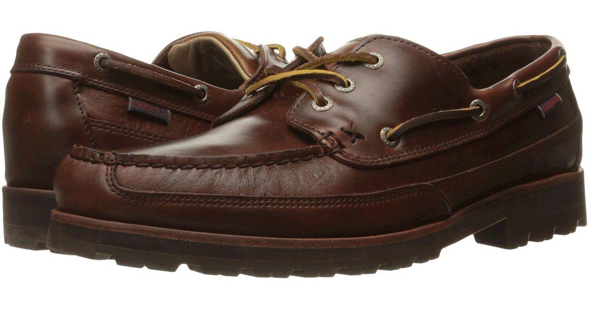 watch eafcd bc10e sebago-Brown-Oiled-Waxy-Leather-Vershire-Three-Eye.jpeg