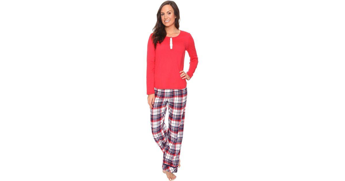 Jockey - Red Flannel Pant Pajama Set - Lyst 2ede095b6