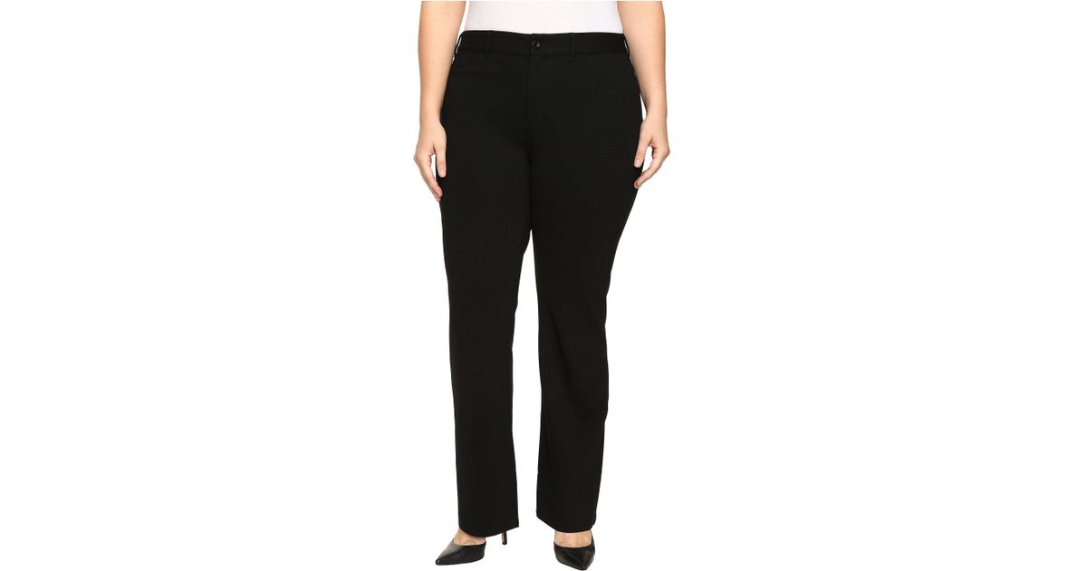 8092d648a09d3 Lyst - NYDJ Plus Size Isabella Trousers In Ponte Knit In Black in Black