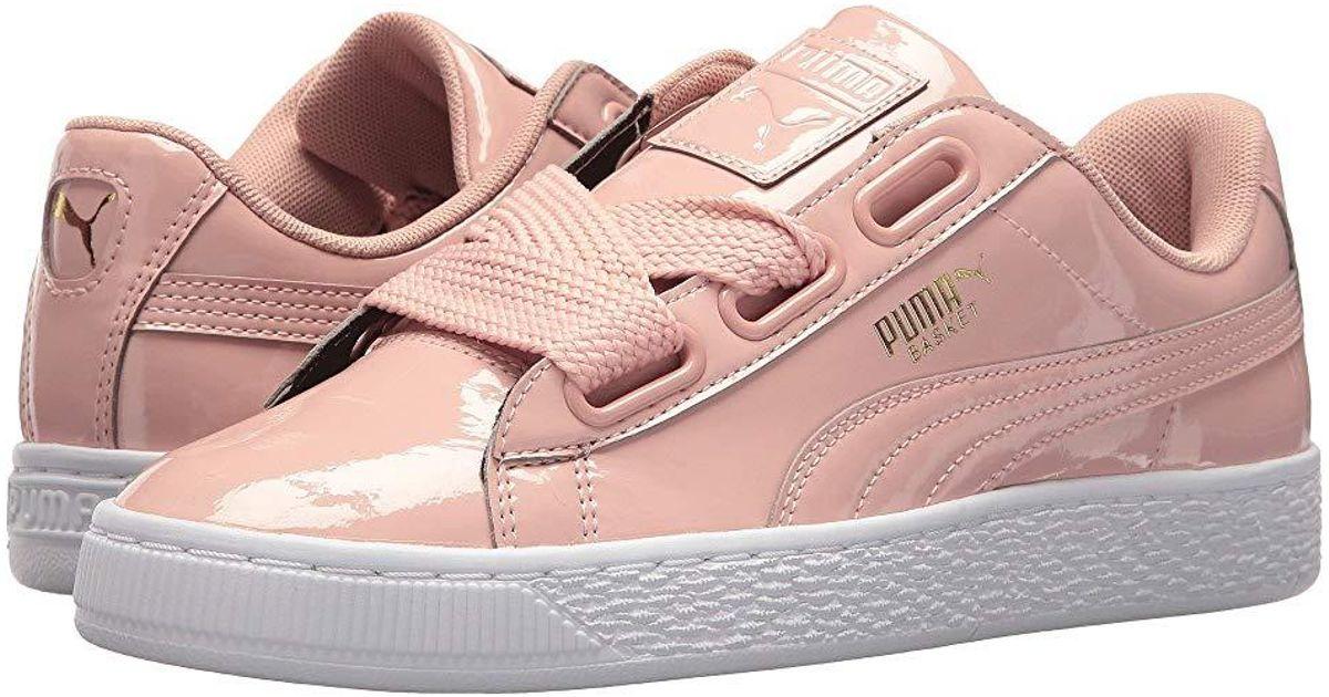 promo code 9f10c 65f71 PUMA - Pink Basket Heart Patent (peach Beige/peach Beige) Shoes - Lyst