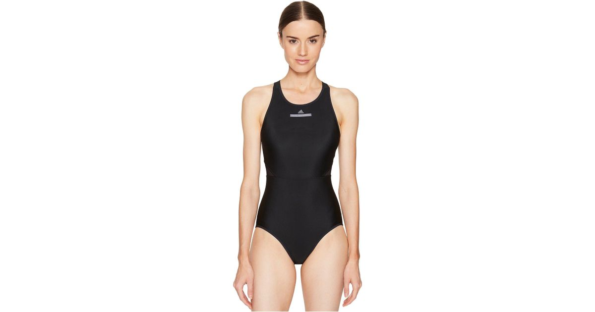 e06749977b Lyst - adidas By Stella McCartney Performance Zip Swimsuit Bs1150 in Black