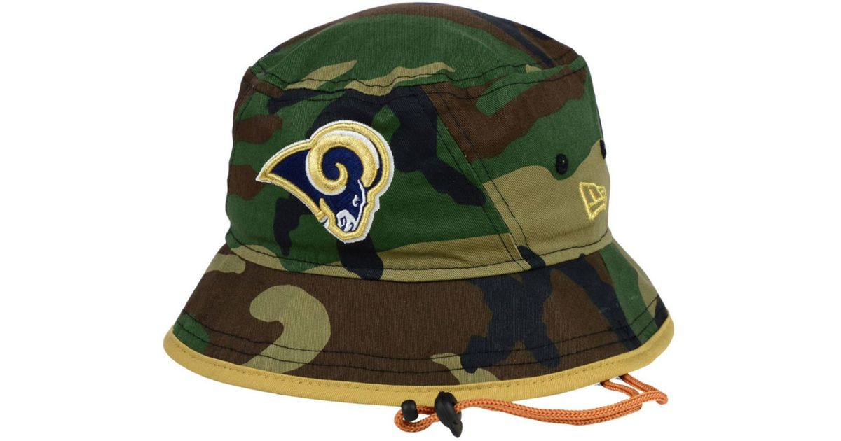 d22a8b8c ... cheap lyst ktz st. louis rams camo pop bucket hat in green for men 98123