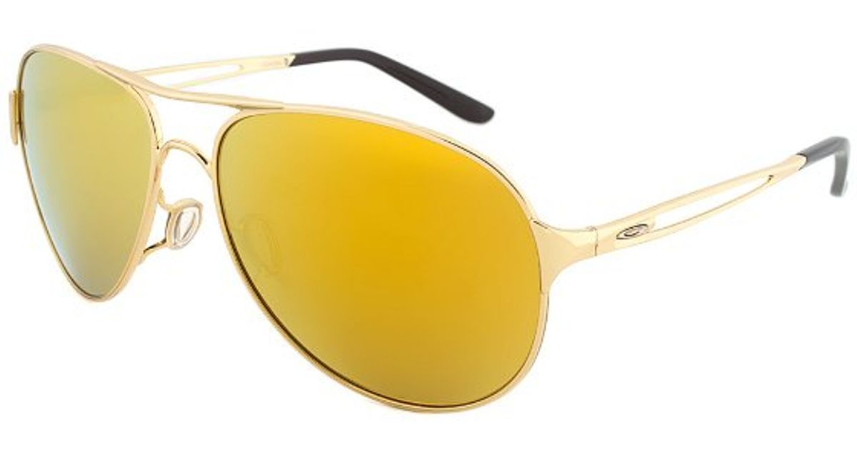 Oakley Gold Frame Sunglasses : Oakley Oo4054-18 Caveat Sunglasses Polished Gold Frame ...