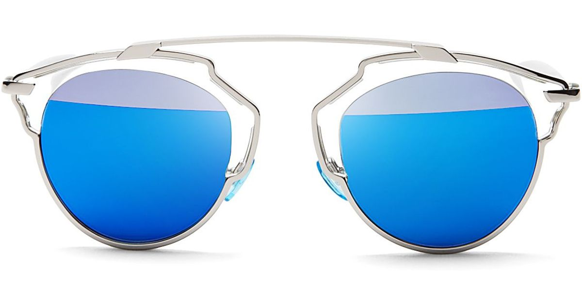 dior mirrored sunglasses olivia palermo lyst dior so real mirrored sunglasses in white