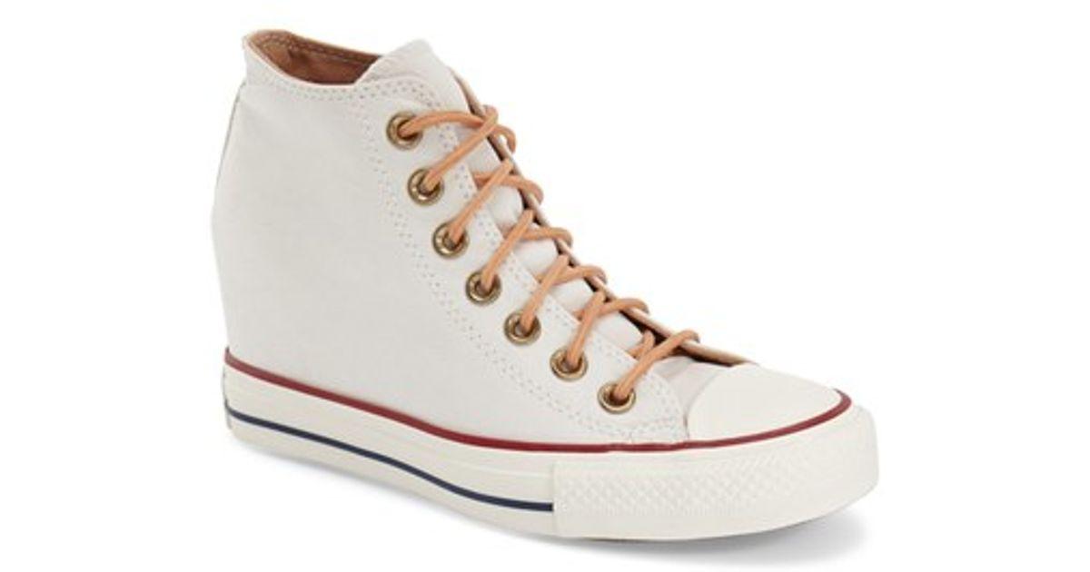 0e77141cfaa6 Lyst - Converse Chuck Taylor All Star  lux  Hidden Wedge High Top Sneaker  in Brown
