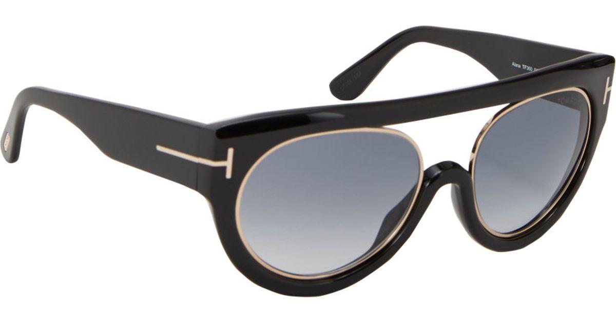 342156e912 Tom Ford Alana Sunglasses in Black - Lyst