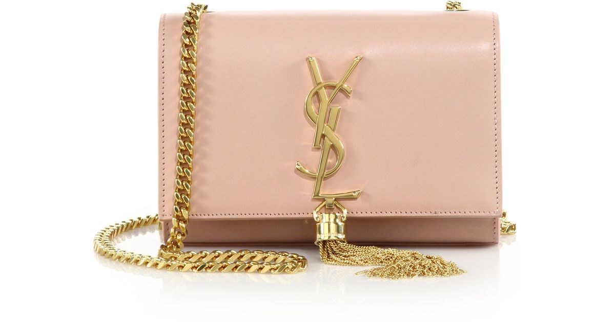 ysl envelope clutch - Saint laurent Monogram Small Tassel Chain Bag in Pink (pale rose ...