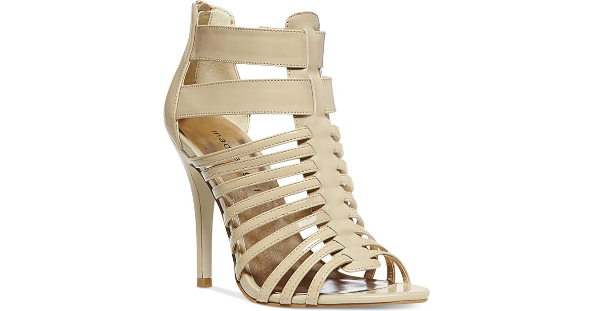 Madden Girl Debbra Caged Sandals In Nude Patent Natural - Lyst-6817