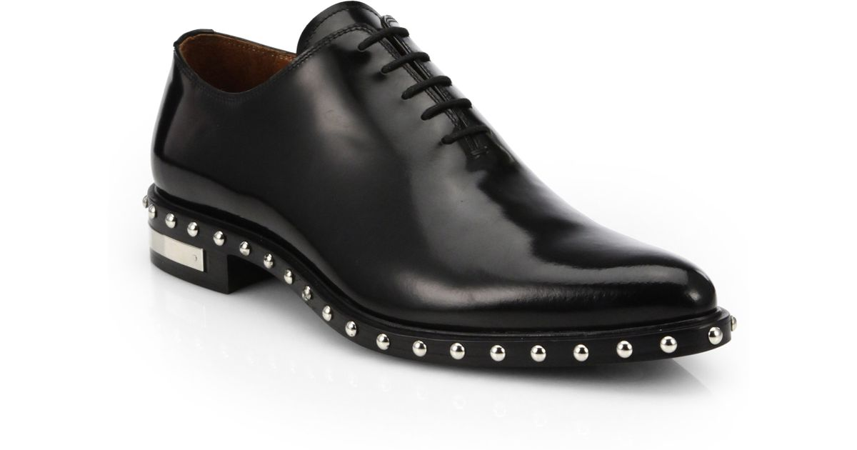 Lyst - Givenchy Studded Derby Shoes in Black for Men 3c6ee9935a3d
