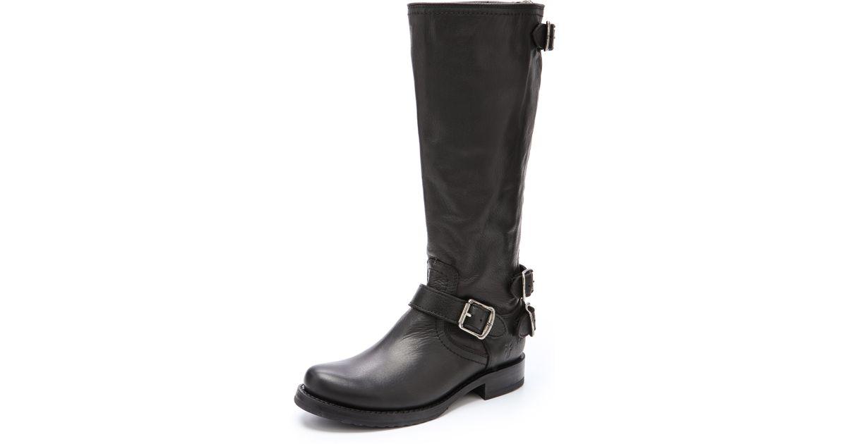 dee25c8fedefa Lyst - Frye Veronica Back Zip Boots in Black