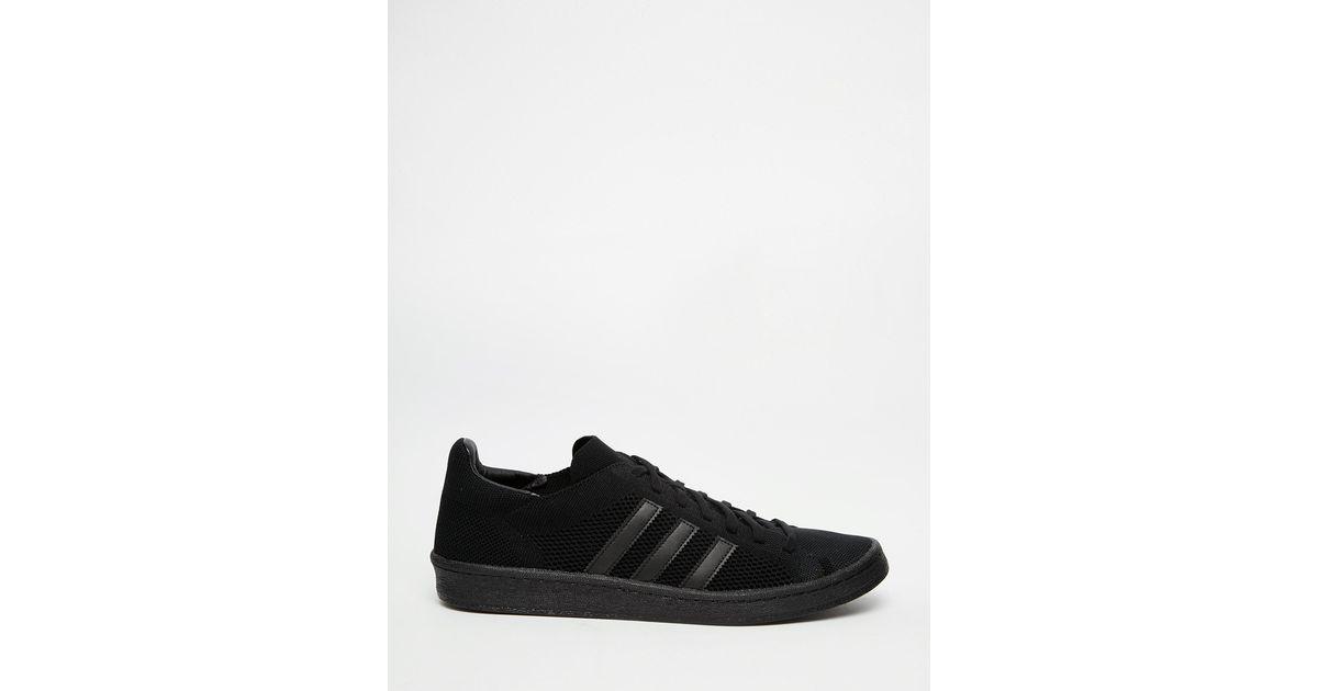 online store 17132 1e5a1 Lyst - adidas Originals Campus 80s Primeknit Trainers S78406 in Black for  Men