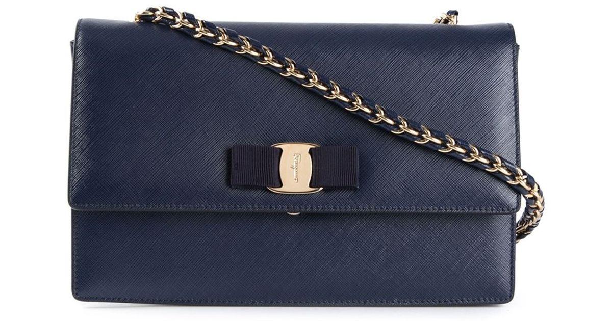 Lyst - Ferragamo  Ginny  Crossbody Bag in Blue d8c84f3ef2