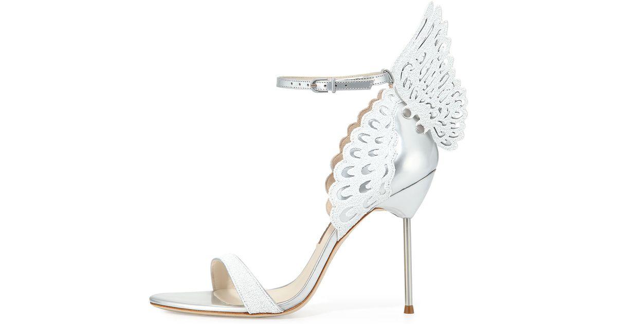 Lyst - Sophia webster Evangeline Angel Wing Sandals in Metallic