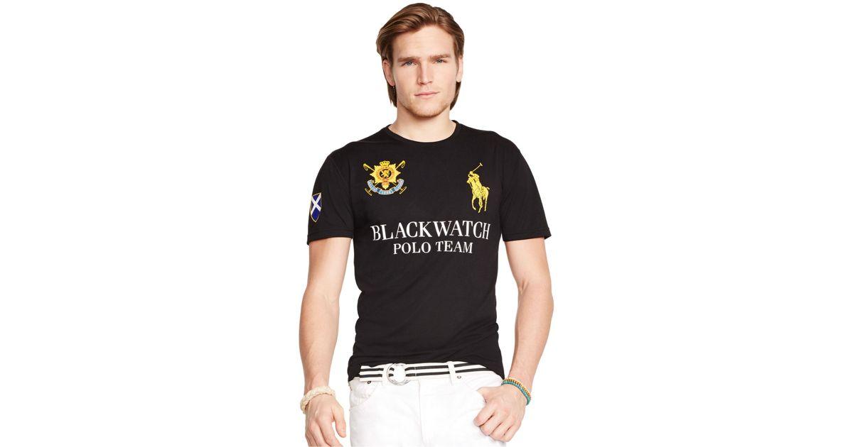 Lyst - Polo Ralph Lauren Black Watch Performance Jersey Crew-Neck T-Shirt  in Black for Men