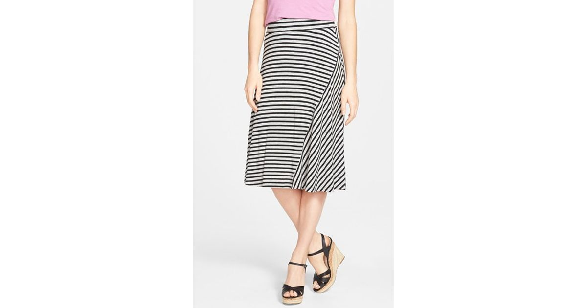 caslon caslon a line knit midi skirt in black lyst