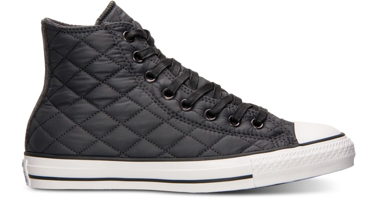 Lyst - Converse Unisex Chuck Taylor Hi Quilted Nylon Casual ... : quilted converse - Adamdwight.com