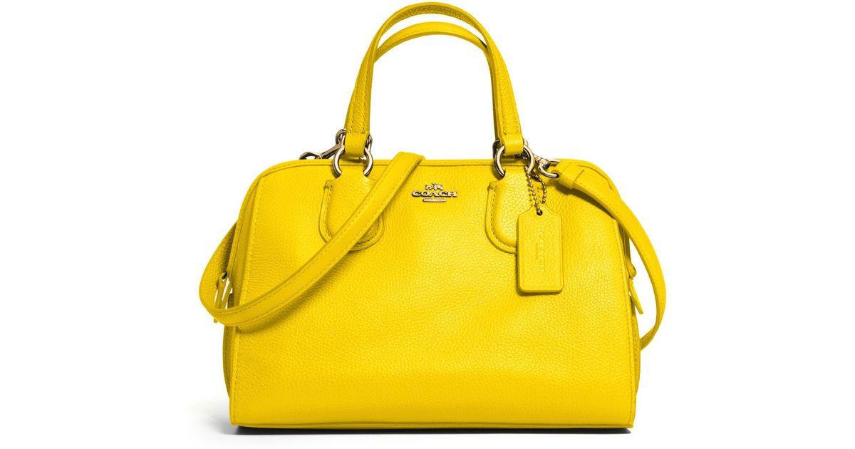 Coach Nolita Mini Satchel In Yellow Lyst